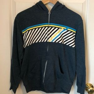 GUC Navy Zip-Up Hoodie Billabong